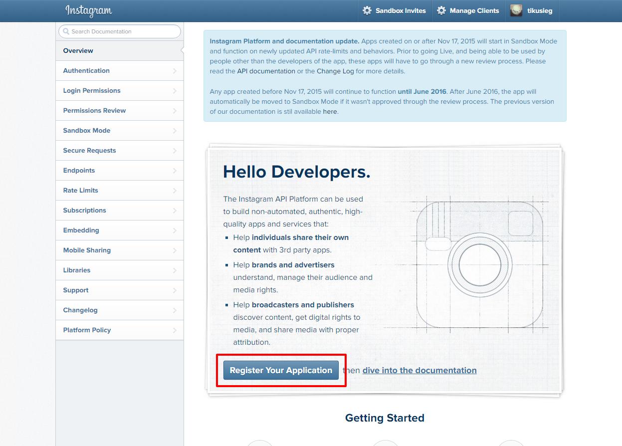 Instagram Developer Documentation