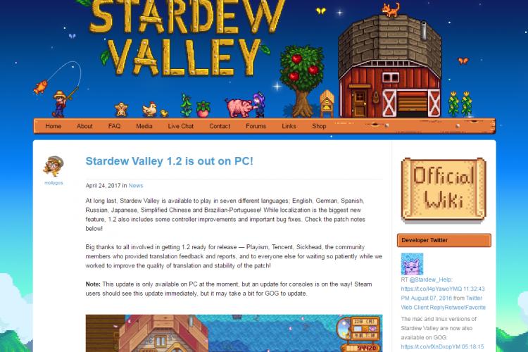 Stardew Valley ver1.2のMOD導入について